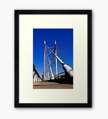 Suspension Bridge & Walkway - Rendition Framed Print