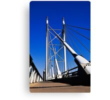 Suspension Bridge & Walkway - Rendition Canvas Print