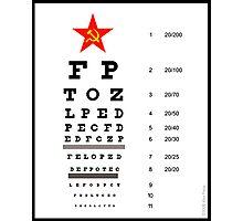 Campaign Memories: Sarah Palin's Eye Chart Photographic Print