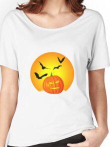 Halloween Moon Women's Relaxed Fit T-Shirt