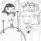 Girl & Wolf - Beatrice Ajayi by Beatrice  Ajayi