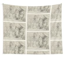 Drawing - Christ Appearing to the Apostles, Rembrandt Harmensz. van Rijn, 1656  Wall Tapestry