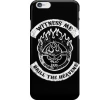 Witness me drill the heavens White iPhone Case/Skin