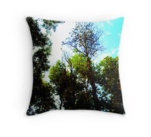 I see skys of blue and clouds of white, the bright blessed days... Throw Pillow