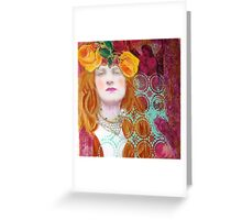 Courage, Angel at my shoulder Greeting Card