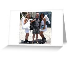 """ My angels "". Greeting Card"