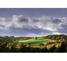 Early Autumn Hillside View Photographic Print