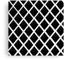 Black and White Diamonds Canvas Print