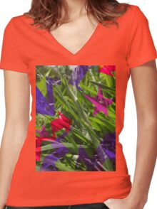 naturefiti Women's Fitted V-Neck T-Shirt