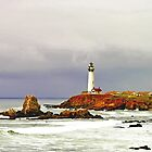 """Spring Storm"" - Pigeon Point Lighthouse by William Moore"