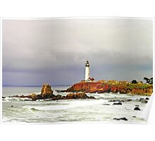 """""""Spring Storm"""" - Pigeon Point Lighthouse Poster"""