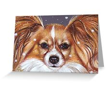 Winter papillon Greeting Card