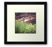 Tranquil Bridge Framed Print