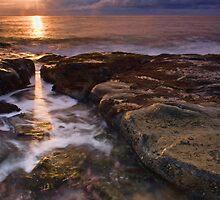 through the gap - sunrise, bawley point, australia by doug riley