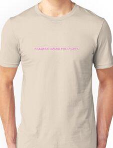 A blonde walks into a bar... Unisex T-Shirt