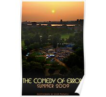 Comedy of Errors - Sunset from Above with Text Poster