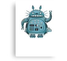 Robot Totoro Canvas Print