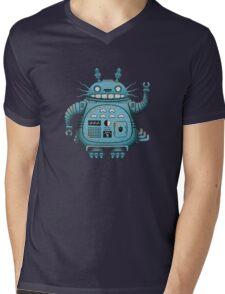 Robot Totoro Mens V-Neck T-Shirt