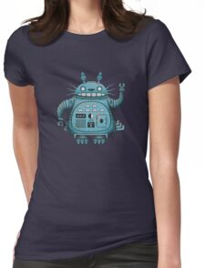 Robot Totoro Womens Fitted T-Shirt