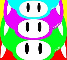 Super Mario Warhol Mushroom Poster by Erich Schuler