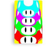 Super Mario Warhol Mushroom Poster Canvas Print