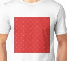 Aberdeen - Red and White Pattern Unisex T-Shirt