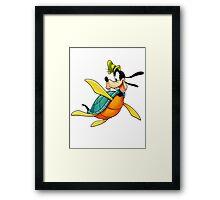 Goofy Turtle (Kingdom Hearts) Framed Print