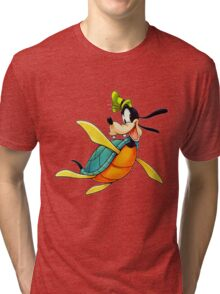 Goofy Turtle (Kingdom Hearts) Tri-blend T-Shirt
