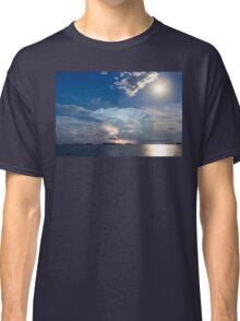 Lightning Thunderstorm Cell and Moon Classic T-Shirt