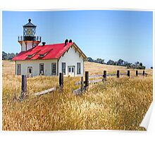 """Point Cabrillo Lighthouse"" - ""One if by sea"" Poster"