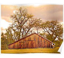 The Barn at Deavers Vineyard Poster
