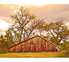 The Barn at Deavers Vineyard Photographic Print