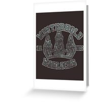 Skyrim - Football Jersey - Winterhold Warlocks Greeting Card