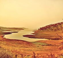 Lake Don Pedro (Sunset view) - Hwy 132 California  by William Moore