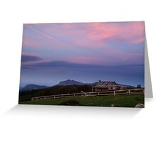 Dusk at Craigs Hut Greeting Card