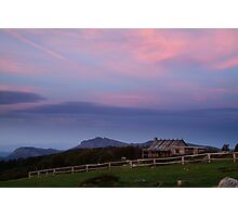 Dusk at Craigs Hut Photographic Print