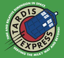 Tardis Express Futurama Doctor Who by RedbubblePro