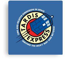 Tardis Express Futurama Doctor Who Canvas Print