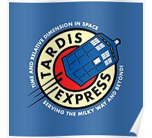 Tardis Express Futurama Doctor Who Poster