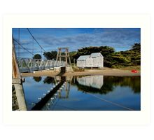 Swing Bridge Lorne Art Print