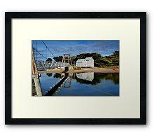 Swing Bridge Lorne Framed Print