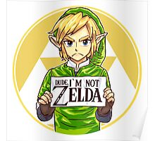 Dude, I'm Not ZELDA! Poster