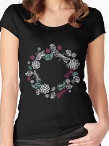 spring flower Women's Fitted Scoop T-Shirt