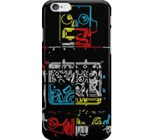 Take Me To Your Leader Neon Robot iPhone Case/Skin