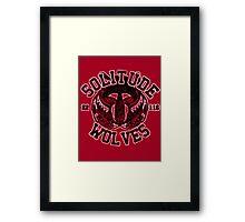 Skyrim - Football Jersey - Solitude Wolves Framed Print