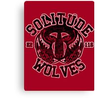 Skyrim - Football Jersey - Solitude Wolves Canvas Print