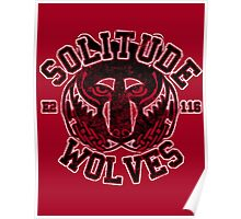 Skyrim - Football Jersey - Solitude Wolves Poster