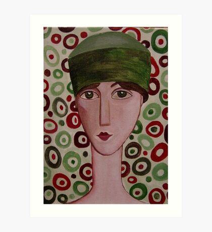 The Green Hat Art Print