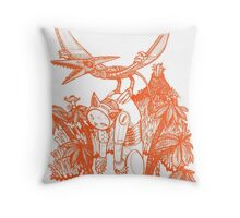 pterodactyl pilot Throw Pillow
