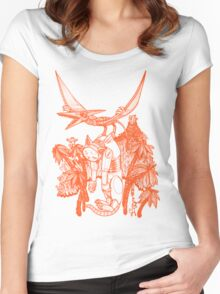 pterodactyl pilot Women's Fitted Scoop T-Shirt